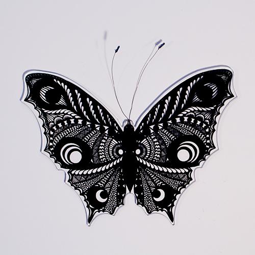 Fensterbild Schmetterling : Esther Gerber Scherenschnitte